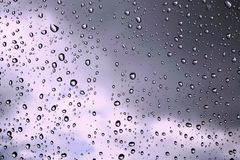 Rain Drops and Storm Clouds Stock Photo