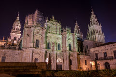 Reconstruction of the Cathedral in Santiago de Compostela. Photograph of reconstruction of the Cathedral in Santiago de Compostela, Galicia, Spain Stock Photography