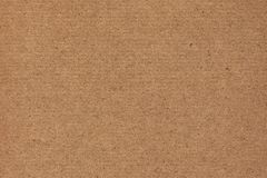 Photograph of Recycle Coarse Grain Striped Brown Kraft Paper Grunge Texture.  Royalty Free Stock Image