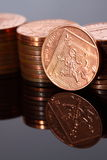 Two pence coins B Stock Photos