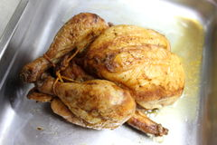 Photograph of a roast chicken Stock Photo