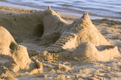 Photograph of a sandcastle Stock Image