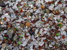 Photograph of Sea Glass Background Royalty Free Stock Images