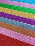 Brightly colored foami royalty free stock photo