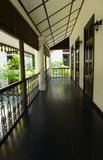 Asian style house, long empty veranda Stock Photography
