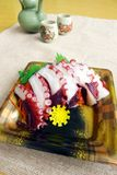 Sashimi in take out container Royalty Free Stock Photos
