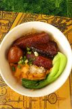 Taiwanese dish, stewed pork belly with rice Royalty Free Stock Photos