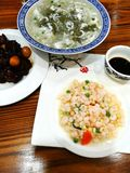 Traditional Suzhou Chinese dishes. A photograph showing some delicious traditional ethnic Chinese cuisine dish from the ancient town of Suzhou in southern China stock images
