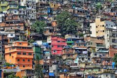 The Rocinha Favela, Rio De Janeiro, Brazil stock photography