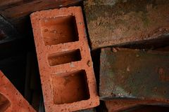 stacked building bricks royalty free stock images