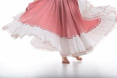 the flying skirt stock photography
