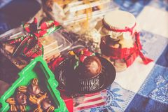 Christmas desert sweet gifts Royalty Free Stock Photo