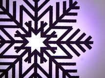 Wood painted snowflakes symbols. Photograph of some wood painted snowflakes symbols Royalty Free Stock Photo