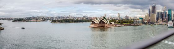 Cloudy day in Sydney Harbour stock photography