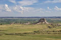 View From Scotts Bluff. Photograph taken from the top of Scotts Bluff National Monument in Nebraska royalty free stock image