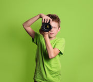 photograph Teenager, der Berufskamera, an verwendet stockfoto