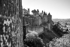 Cacassonne strenght walls and towers Royalty Free Stock Photography