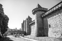 Cacassonne strenght walls and towers Royalty Free Stock Image