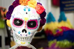 Traditional mexican catrina handcraft. Photograph of a traditional mexican catrina handcraft Royalty Free Stock Image