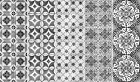 Collection of patterns tiles Stock Images