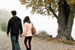 Photograph, Tree, Walking, Girl Royalty Free Stock Image