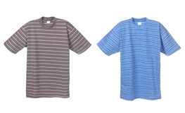 Photograph of two striped t-shirts Stock Photos