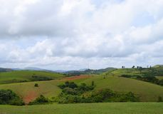 Vagamon Hills and Meadows - Green Fields and Open Sky, Idukki, Kerala, India Stock Image