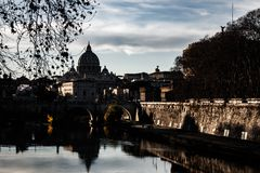 Nice picture of Rome at sunset. stock photos