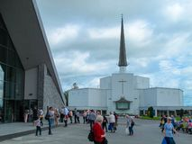 Knock Basilica. This photograph was taken at Knock Shrine in July 2018. The basilica of Knock is a Roman Catholic Church of the Latin Rite located in the small royalty free stock photos