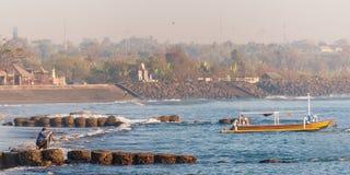 Photographe à une plage Photos libres de droits
