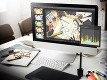 Photographe éditeur Histogram Setting Concept photographie stock