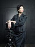 Photographe élégante de dame Image stock