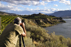 Photographe adulte de passe-temps d'homme Image stock