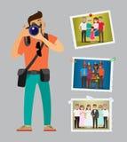 Photographe Advertising Poster avec des échantillons de travaux illustration libre de droits