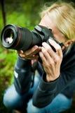 Photographe au travail Photo stock