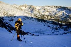 Photographe au travail Photographie stock libre de droits