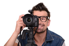 Photographe au travail Photo stock