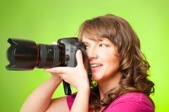 Photographe avec l'appareil-photo Photo libre de droits