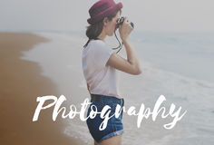 Photographe Camera Picture Concept de photo de photographie images libres de droits