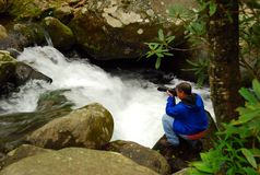 Photographe d'aventure Image stock