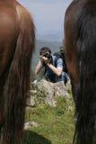 Photographe dans l'action Image stock