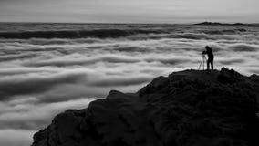 Photographe dans les montagnes Images libres de droits