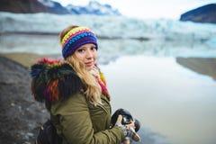 Photographe de femme en Islande Images stock