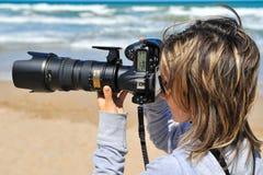 Photographe de femme professionnelle Photographie stock libre de droits