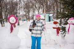 Photographe de fille en hiver photo libre de droits