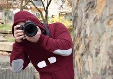 Photographe de paparazzi Photos stock
