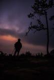 Photographe de silhouette Photos stock