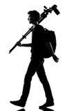 Photographe de silhouette de jeune homme Image libre de droits