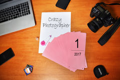 Photographe de travail en cours Photos libres de droits
