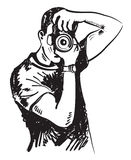 Photographe de vecteur illustration de vecteur